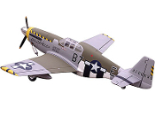 "ESM P-51B Mustang Color A Bald Eagle 71"" Wingspan ARF"
