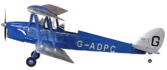 "ECOM de Havilland Tiger Moth 88"" wingspan"